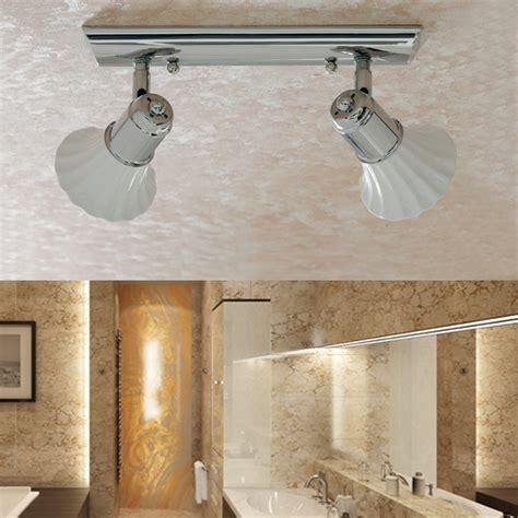specchi da soffitto applique plafoniera doppio spot ceramica