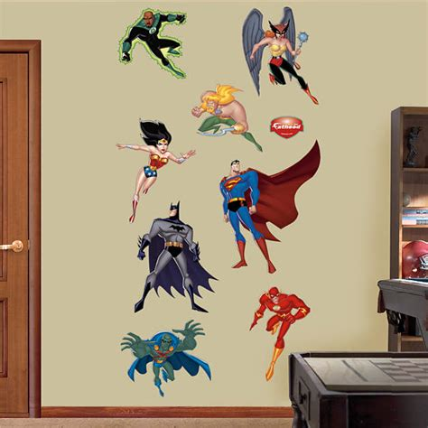 custom fatheads wall stickers size justice league wall decal shop fathead 174 for