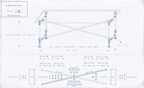 iron pipe desk plans a set of plans for a work made of cast iron pipe