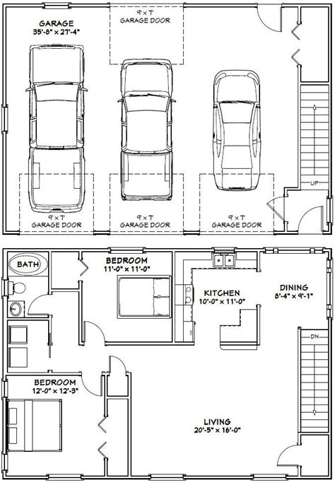 garage guest house floor plans 10 best ideas about garage apartment plans on pinterest