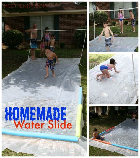 how to build a water slide in your backyard waterpark in my yard with homemade water slide meet penny