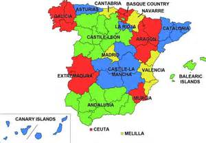 map of spain and regions the 17 regions of spain abcplanet cheap flights hotels travel guide