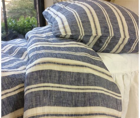 M S Duvet Cover Striped Duvet Cover Handmade In Natural Linen Superior