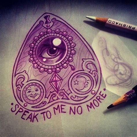 planchette tattoo ouija board tattoos i want ouija
