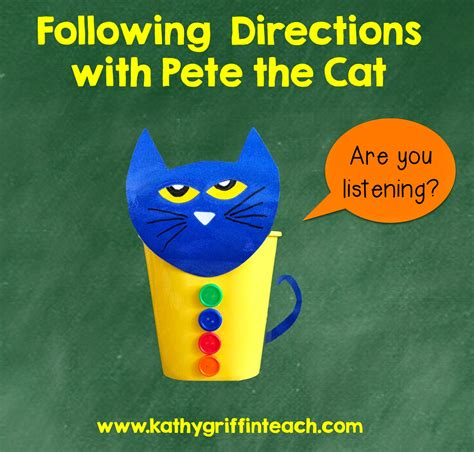 pete the kathy griffin s teaching strategies following directions activities with pete the cat