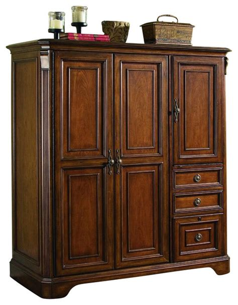 hooker computer armoire hooker furniture brookhaven computer cabinet traditional