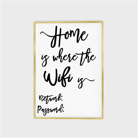 printable free wifi sign wifi password printable wifi password sign home is where the