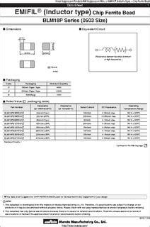 differential mode choke datasheet blm18pg471sn1d datasheet specifications filter type differential mode single