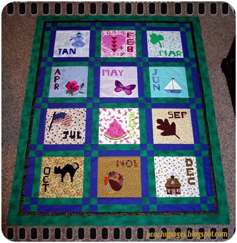 Calendar Quilts Block Of The Month Peachy Pages Finish It Up Friday 30 November 2012