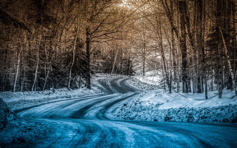 Snow Blue blue snow on the road wallpapers blue snow on the road