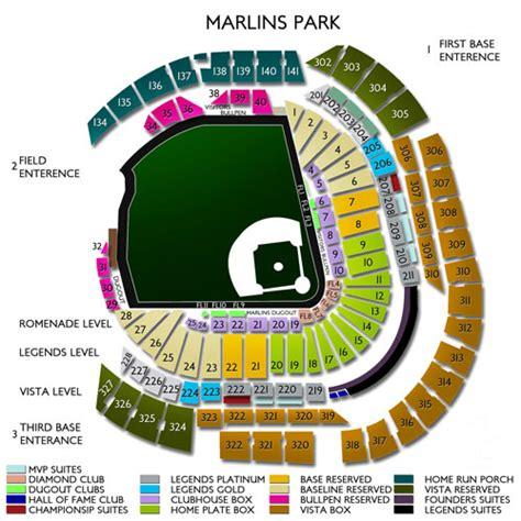 seating chart miami marlins marlins park tickets marlins park information marlins