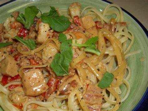 olive garden chicken  shrimp carbonara recipe foodcom