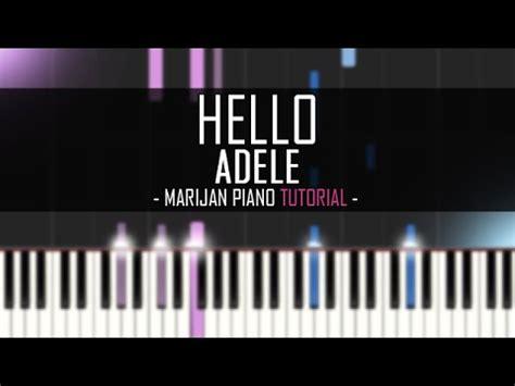 hello keyboard tutorial adele how to play adele hello piano tutorial youtube