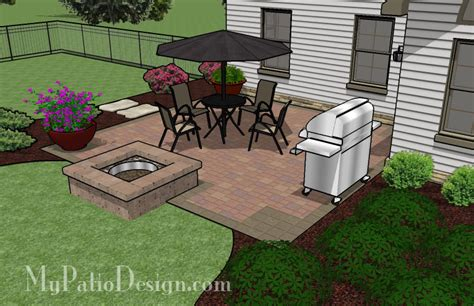 easy to build patio with pit patio designs and