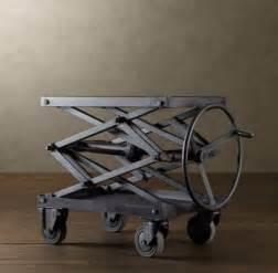 Work Bench Lamps Industrial Retro Adjustable Height Metal Scissor Lift Table