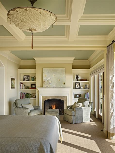 coffered ceiling bedroom coffered ceiling and book shelving home decor pinterest