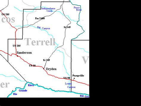 terrell county texas map terrell county menu