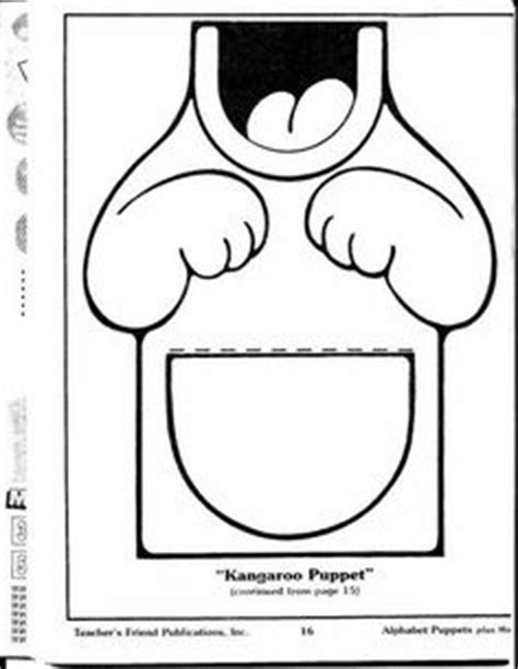 kangaroo puppet template patronen voor papieren zak poppetjes on 48 pins