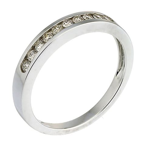 9ct white gold 0 25ct channel set eternity ring