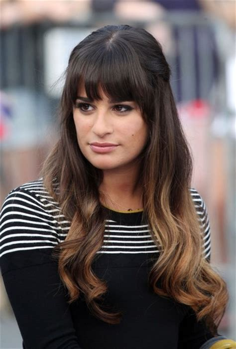 which hair colour does lea michele wear for loreal lea michele starts the new season of glee quot with ombre