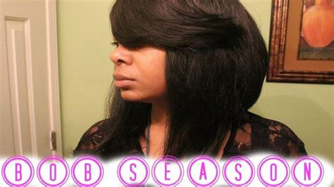 sew in long hairstyles with a swoop bang deep swoop bang bob tutorial video bobs bangs and videos