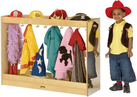 Toddler Dress Up Wardrobe by Large Dress Up Island Dramatic Play School Furniture