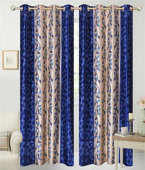 blue eyelet curtains fabbig blue eyelet curtain set of 4 buy fabbig blue