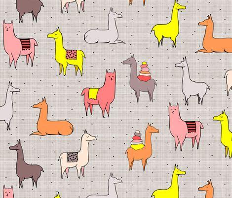 h s pattern là gì ooh la llama fabric mrshervi spoonflower