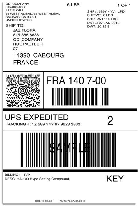 printable ups labels ups only shipping label created kamos sticker