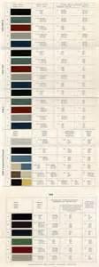 Mercedes Colour Chart 1960s Mercedes Color Chart Design