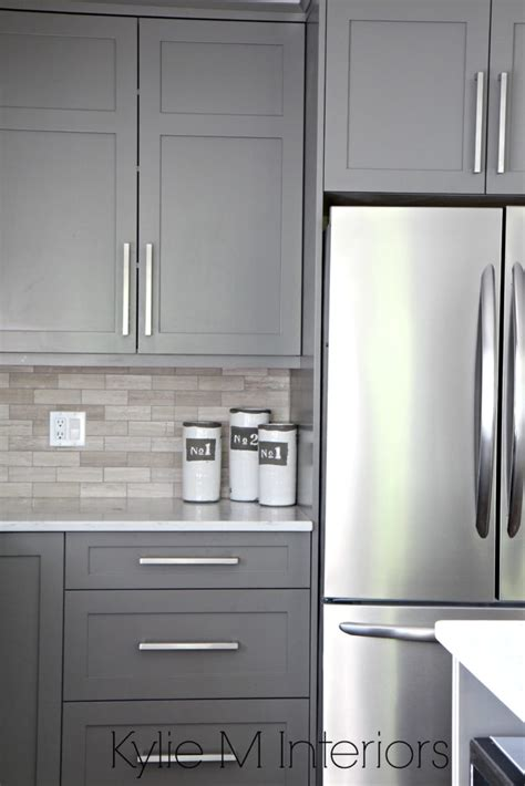 painted gray kitchen cabinets the 3 best gray and greige colours for cabinets and vanities