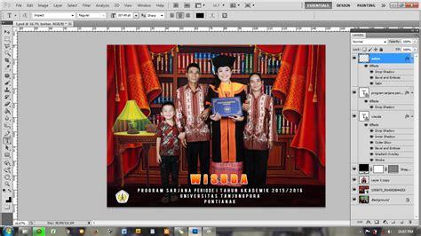 cara membuat desain komunikasi visual tutorial cara membuat background foto wisuda desain grafis