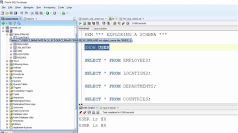 oracle tutorial create schema exploring a schema in sql developer oracle sql 100