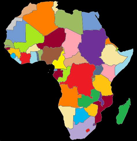 africa map 4 colors colored map of africa mapsof net