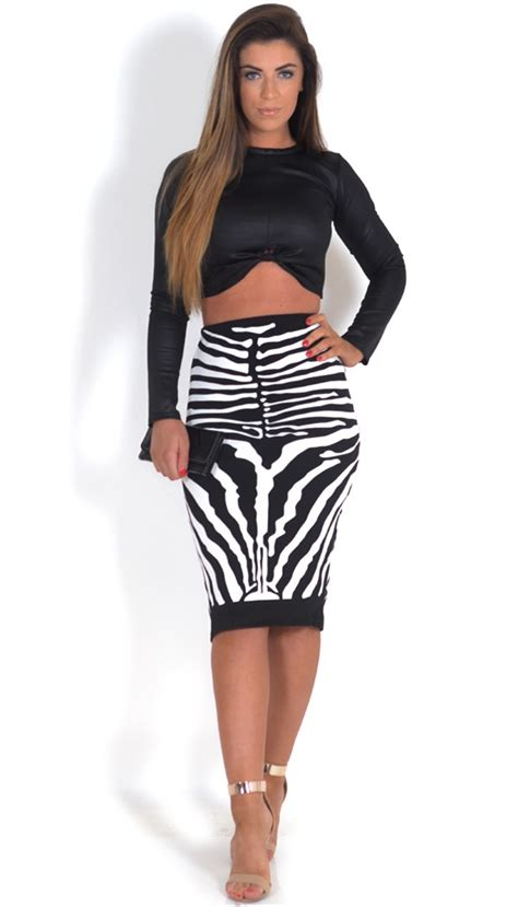 Katia Skirt katia zebra print look top skirt 2 set