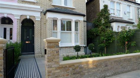 home front design uk balham clapham classic victorian front garden yellow brick