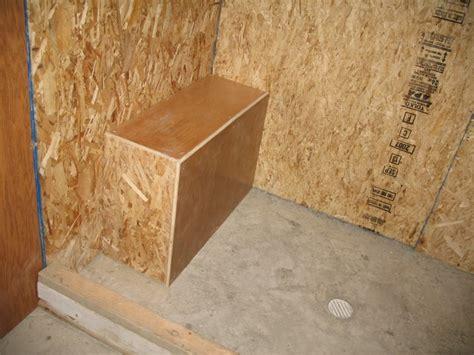 framing shower bench framing a shower bench 28 images tiling a shower