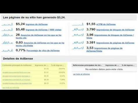adsense español demo informes de adsense en analytics youtube