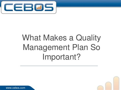 A Beginners Guide To Quality Management What Makes A Quality Management Plan So Important