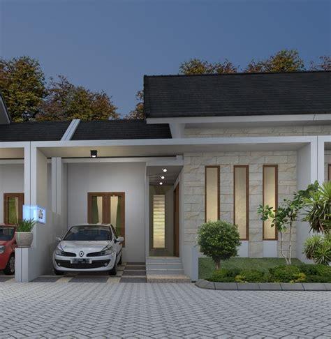 berikut adalah gambar tak depan dari desain rumah minimalis type 45 di bogor desain