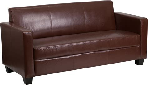 Flash Furniture Grand Series Fedexable Brown Leather Sofa Grand Leather Sofa