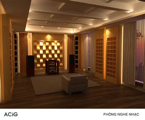 Industrial Home Interior interior audio music listening room