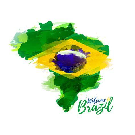 Mit Freundlichen Gr En Portugiesisch Brasilien symbol plakat fahne brasilien karte brasilien mit