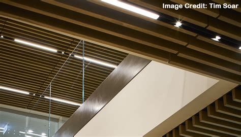 A Place By Douglas Wood Wood Veneer Grill Ceiling Installed In Cannon Place