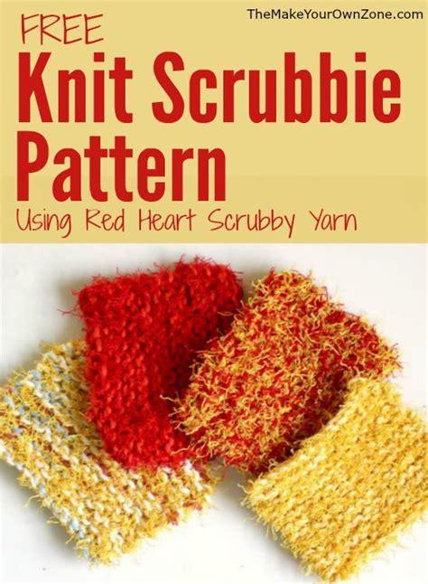 red heart yarn pattern lw2741 knit scrubbie pattern using red heart scrubby yarn