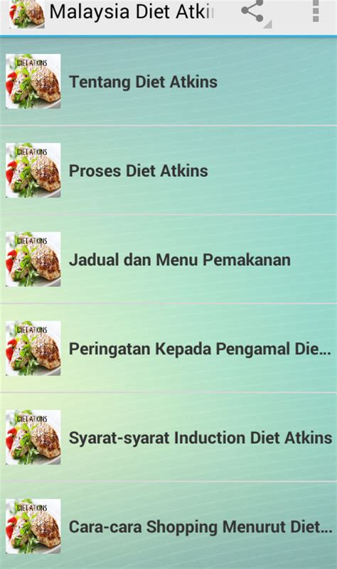 induction phase diet menu diet atkins malaysia terbaru android apps on play