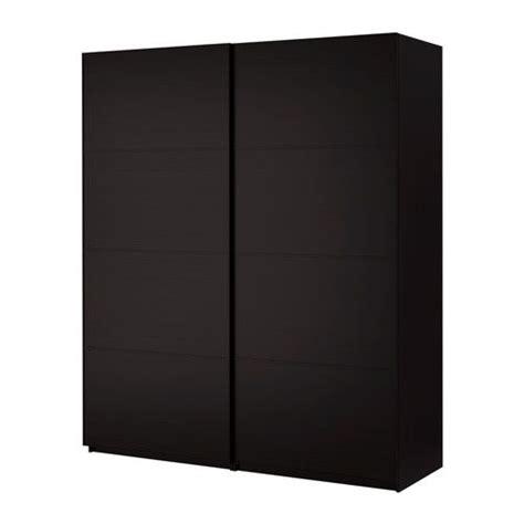 Ikea Pax Black Brown Wardrobe - pax wardrobe with sliding doors pax malm black brown