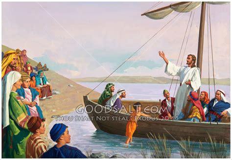 Jesus Teaching From Boat Ephesians 1:11