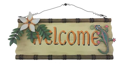beach home decor wholesale buy wood and tin welcome sign 14 inch wholesale beach house