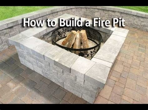 how do i make a pit how to build a square pit